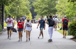University students on a college campus