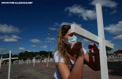 A memorial service for those who died from covid-19 in Brazil