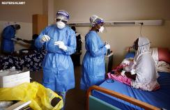Patients are treated for covid-19 in a hospital in Senegal