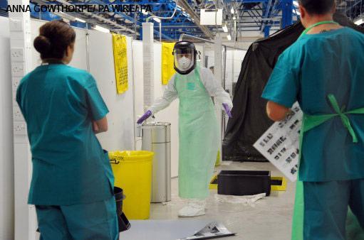 Ebola training exercise