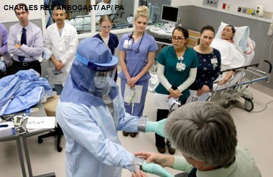 US training for Ebola