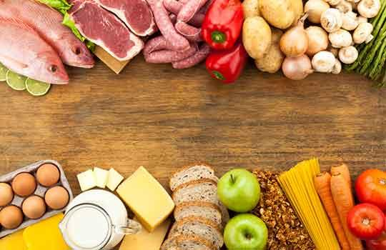 fruits, dairy products, wheat based products, legumes, and processed meats are listed as poorly absorbed foods