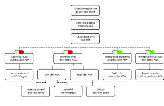 algorithm for managing failure of anti-TNF agents