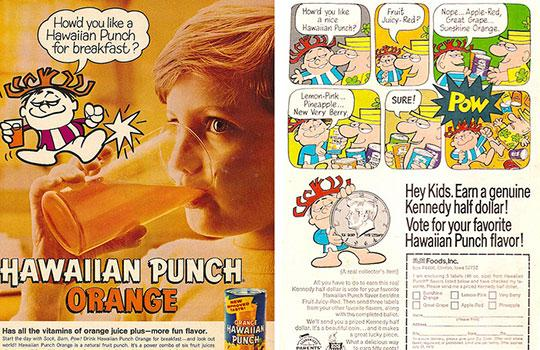 Adverts for Hawaiian Punch in the 1960s and 1970s